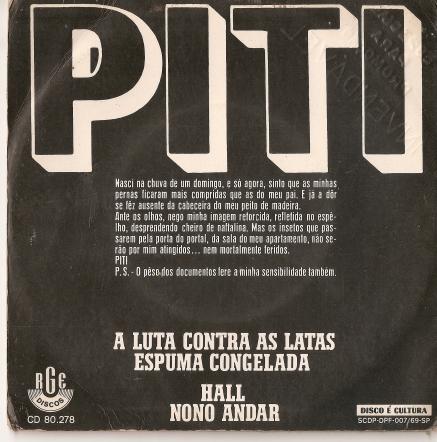 Piti - Compacto 1970 - Verso